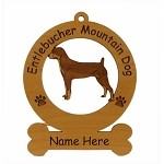 3175 Entelbucher Mountain Dog Standing Ornament Personalized with Your Dog's Name