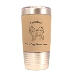 3178 Eurasier Standing #1 20 oz Polar Camel Tumbler with Lid Personalized with Your Dog's Name