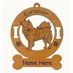 3178 Eurasier Standing Ornament Personalized with Your Dog's Name