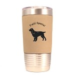 3179 Field Spaniel Standing #1 20 oz Polar Camel Tumbler with Lid Personalized with Your Dog's Name