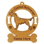 3193 Flat Coated Retriever Standing Ornament Personalized with Your Dog's Name