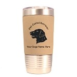 3194 Flat-Coated Retriever Head #1 20 oz Polar Camel Tumbler with Lid Personalized with Your Dog's Name