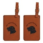 Flat Coated Retriever Head Luggage Tag 2 Pack L3194