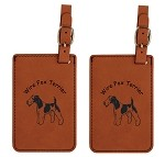 Wire Fox Terrier  Luggage Tag 2 Pack L3197