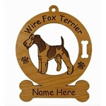 3197 Fox Terrier Wire Standing Ornament Personalized with Your Dog's Name
