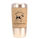 3198 Smooth Fox Terrier Standing #1 20 oz Polar Camel Tumbler with Lid Personalized with Your Dog's Name