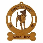 3199 Fox Terrier Smooth 2 Standing Ornament Personalized with Your Dog's Name
