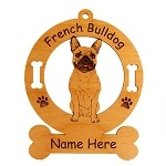3200 French Bulldog Sitting #3 Ornament Personalized with Your Dog's Name