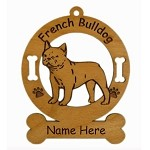 3201 French Bulldog Standing Ornament Personalized with Your Dog's Name