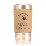 3202 French Bulldog Sitting #1 20 oz Polar Camel Tumbler with Lid Personalized with Your Dog's Name