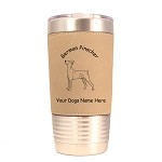 3207 German Pinscher Standing #1 20 oz Polar Camel Tumbler with Lid Personalized with Your Dog's Name