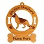 3216 German Shepherd Standing #3 Ornament Personalized with Your Dog's Name
