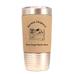 3218 German Shepherd Jumping 20 oz Polar Camel Tumbler with Lid Personalized with Your Dog's Name