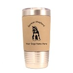 3219 German Shepherd Pup Sitting 20 oz Polar Camel Tumbler with Lid Personalized with Your Dog's Name