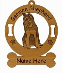 3219 German Shepherd Pup Ornament Personalized with Your Dog's Name