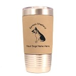 3220 German Shepherd Sitting 20 oz Polar Camel Tumbler with Lid Personalized with Your Dog's Name