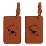 German Shepherd Standing  Luggage Tag 2 Pack L3221