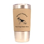 3221 German Shepherd Standing #1 20 oz Polar Camel Tumbler with Lid Personalized with Your Dog's Name