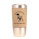 3225 German Shorthaired Pointer Pointing 20 oz Polar Camel Tumbler with Lid Personalized with Your Dog's Name