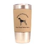 3226 German Shorthaired Pointer Standing #1 20 oz Polar Camel Tumbler with Lid Personalized with Your Dog's Name