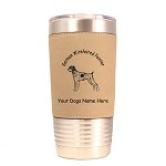 3228 German Wirehaired Pointer Standing #1 20 oz Polar Camel Tumbler with Lid Personalized with Your Dog's Name