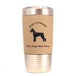 3231 Giant Schnauzer Standing #1 20 oz Polar Camel Tumbler with Lid Personalized with Your Dog's Name