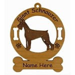 3231 Giant Schnauzer Standing Ornament Personalized with Your Dog's Name