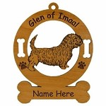 3237 Glen of Imaal Terrier Standing Ornament Personalized with Your Dog's Name