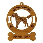 3240 Goldendoodle Standing Ornament Personalized with Your Dog's Name