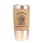 3241 Goldendoodle Head #1 20 oz Polar Camel Tumbler with Lid Personalized with Your Dog's Name