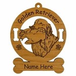 3249 Golden  Retriever Hunting Ornament Personalized with Your Dog's Name