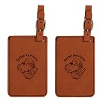 Golden Retriever Head with Duck  Luggage Tag 2 Pack L3249