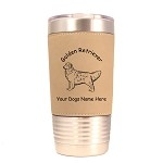 3254 Golden Retriever Standing #1 20 oz Polar Camel Tumbler with Lid Personalized with Your Dog's Name