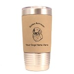 3257 Golden Retriever Head #1 20 oz Polar Camel Tumbler with Lid Personalized with Your Dog's Name