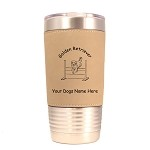 3259 Golden Retriever Jumping 20 oz Polar Camel Tumbler with Lid Personalized with Your Dog's Name