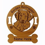 3261 Golden Retriever Pup Ornament Personalized with Your Dog's Name