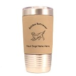 3263 Golden Retriever Wagging 20 oz Polar Camel Tumbler with Lid Personalized with Your Dog's Name