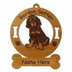 3276 Gordon Setter Pup  Ornament Personalized with Your Dog's Name
