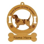 3283 Grand Basset Griffon Vendeen Standing Ornament Personalized with Your Dog's Name