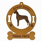 3288 Great Dane Standing Ornament Personalized with Your Dog's Name
