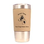 3291 Great Dane Harlequin Head #1 20 oz Polar Camel Tumbler with Lid Personalized with Your Dog's Name