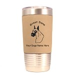 3293 Great Dane Head #2 20 oz Polar Camel Tumbler with Lid Personalized with Your Dog's Name