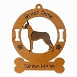 3294 Great Dane Mantle Ornament Personalized with Your Dog's Name