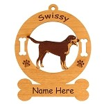 3310 Greater Swiss Mountain Dog Standing Ornament Personalized with Your Dog's Name