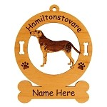 3334 Hamiltonstovare Standing Ornament Personalized with Your Dog's Name