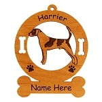 3338 Harrier Standing #1 Ornament Personalized with Your Dog's Name