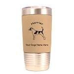 3338 Harrier Standing #1 20 oz Polar Camel Tumbler with Lid Personalized with Your Dog's Name