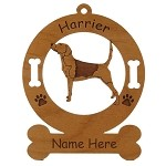 3340 Harrier Standing #2 Ornament Personalized with Your Dog's Name