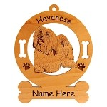 3348 Havanese Standing #3 Ornament Personalized with Your Dog's Name