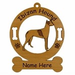 3358 Ibizan Hound Standing Ornament Personalized with Your Dog's Name